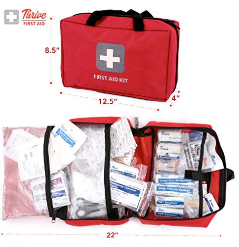 First Aid Kit – 291 Pieces of First Aid Supplies | Hospital Grade Medical Supplies for Emergency and Survival Situations… 4
