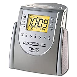 Timex T311T Auto-Set Dual-Alarm Clock Radio (Titanium) (Discontinued by Manufacturer)