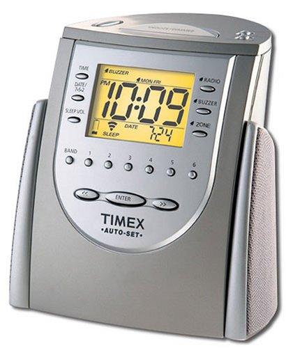 Timex T311T Auto-Set Dual-Alarm Clock Radio (Titanium) (Discontinued by Manufacturer)
