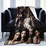 The Vam-pire Dia-ries Season Blanket All Characters Fans Gift for Bedding Team Damon Since 1864 TV Show Series Poster Merch Decor Graphics Posters Painting Novelty Collectibles Ornament 50 x 40 Inches