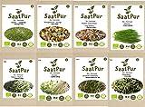 SaatPur Bio-Keimsprossen Sortiment (8 Sorten) Alfalfa, Brokkoli, Daikon Rettich, Kresse, Mungo...