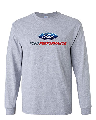 Ford Performance Long Sleeve T-Shirt Ford Mustang GT ST Racing Gray XL