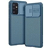AROYI Funda Compatible con Samsung Galaxy A52 5G / 4G y Samsung Galaxy A52s 5G, Tapa Deslizante para la cámara - Azul