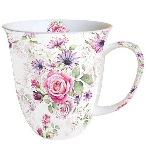 Ambiente Becher - Mug - Tasse - Tee/Kaffee Becher ca. 0,4L Madeline - Blumen - Rosen
