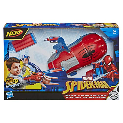 SpiderMan NERF Power Moves Marvel Web Blast Web Shooter NERF DartLaunching Toy for Kids Roleplay Toys for Kids Ages 5 and Up