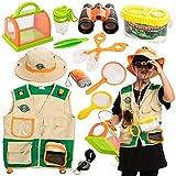 JOYIN Kit de Explorador al Aire Libre para Niños y Juguetes para Atrapar Insectos(Chaleco, sombrero, binoculares, linterna, lupa y brújula)para Exploración en Interiores o Exteriores