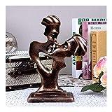 LXRZLS Estatuas Estatuillas Esculturas,Pareja Figura Abstracta Escultura Ornamentos Europeos Decoración de la casa Resina Artesanía Pareja Beso Figuras Boda T Decoración para el hogar Escultura