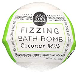 Whole Foods Market, Fizzing Bath Bomb, Coconut Milk, 2.3 oz
