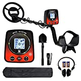 Metal Detector for Kids/Adults,Lightweight Underwater Gold Detector with Pinpoint,Backlit LCD Display,Treasure Hunter