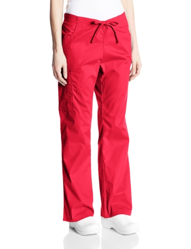 Dickies Women's Tall EDS Signature Scrubs Missy Fit Drawstring Cargo Pant, Red,...