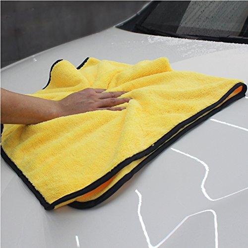 Preisvergleich Produktbild YEARGER 56 * 92cm Mikrofasertücher zur professionellen Autopflege -Qualität Mikrofaser extrem saugfähig Zweilagig Autopflege Mikrofasertücher zum Waschen,  Putzen,  Polieren und Trocknen von Fahrzeugen