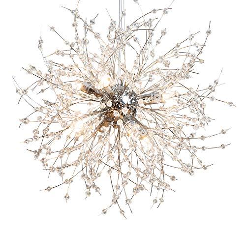 anTes interieur Höhenverstellbare Hängeleuchte Flower Bead inkl. LEDs mehrflammig Glasperlen (Pendelleuchte Hängelampe Deckenlampe Pendellampe Deckenleuchte)