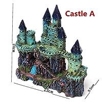 水族館の古代の城の装飾樹脂の人工的な建物の岩の洞窟のための洞窟の装飾 (色 : A 24x23x9.5cm)