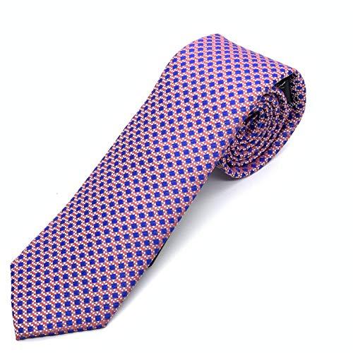 Krawatte blau - 100% Seidenkrawatte - Pietro Baldini Krawatten handgefertigt - Größe 7 cm