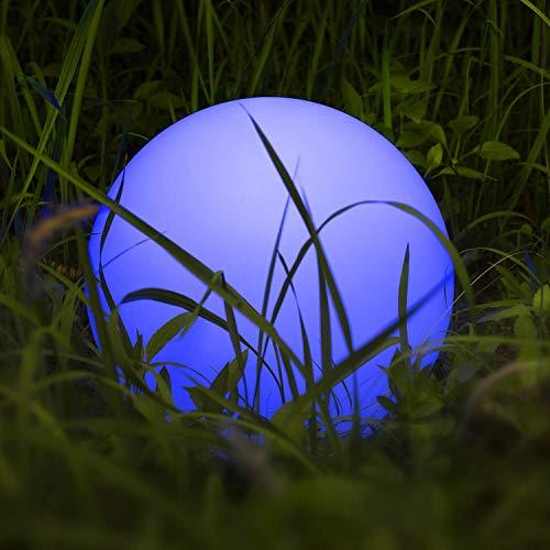 Luce Solare LED Esterno Natale, Homever Luce Sfera Impermeabile e Galleggiante con 9 Modalità di Colori per Giardino/Stagno/Piscina/Festa