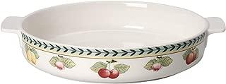 Villeroy & Boch French Garden Baking Pan, 28 cm, Premium Porcelain, White/Colourful