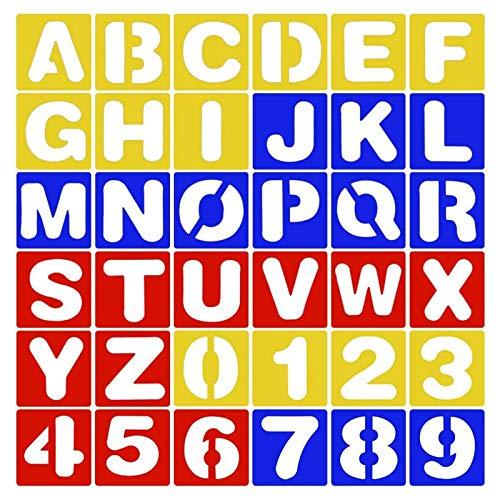 36 STKS Plastic Letter Digitale Stencils, Letter Stencil, Tekening Stencils Plastic Template Set Letters, voor…