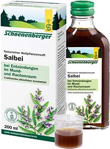 Schoenenberger Bio Naturreiner Heilpflanzensaft Salbei (6 x 200 ml)