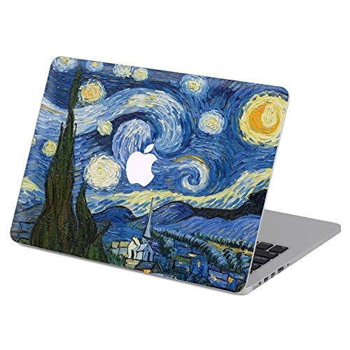 kikhorse Creativo Pittura Famosa Serie Speciali Design Smontabili Top Adesivi Fronte della Pelle per MacBook PRO da 13 Pollici con Display Retina (Modelli:A1502 e A1425) (Notte Stellata)