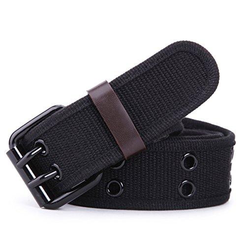 Leathario Cintura in Tela da Uomo Regolabile con Fibbia in Metallo Resistente All'usura Lunghezza 112cm