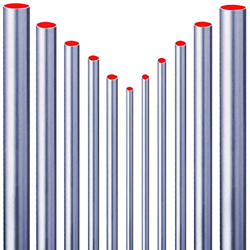 Qualitäts C-Stahlrohr Stange > 10mm bis 35mm > Länge 0,25m bis 2m > Wunschlänge einfach auswählen >>> 22 mm x 1,5 mm | 0,25 m