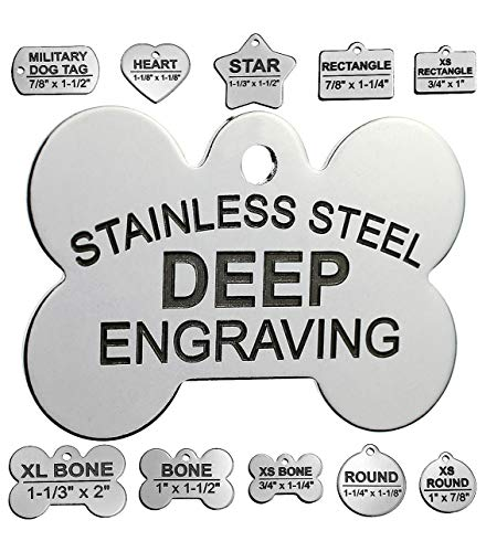 Pawsitively Pet Tags Stainless Steel Pet ID Tags