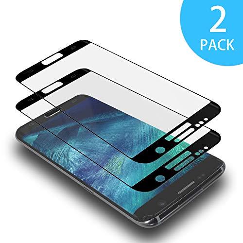 AdoN Galaxy S6 Edge Panzerglas Schutzfolie, [2 Stück] 3D Full Cover Panzerglasfolie für Samsung Galaxy S6 Edge, Ultra-klar,Anti-Bläschen,3D Touch Displayschutzfolie für Galaxy S6 Edge -Schwarz