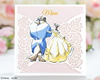 WISH 結婚式(ウエディング) 【Disney】 ディズニーメニュー(献立表) エンブレイス(10枚セット) 結婚式用手作りキット