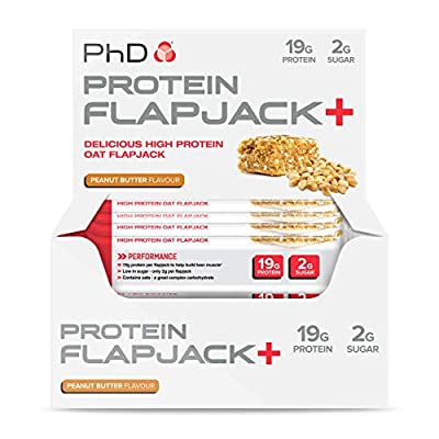 PhD Nutrition Protein Flapjack+ Bars, Pack of 12 x 75g from PHDNW