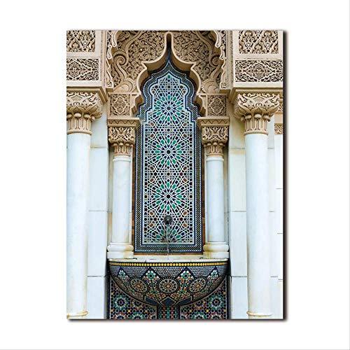 LWJZQT Hd Poster Print Canvas Schilderij Barok Deur Grote Bedrukking Home Decoratie Wandkunst Foto's Voor Woonkamer Muurdecoratie