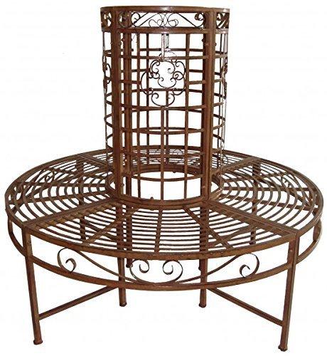 Gravidus Baumbank 360° Sitzbank Bank Rost-Bronze Optik aus Metall