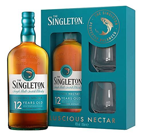 Singleton 12 Jahre, Geschenkpackung mit 2 Gläsern - Single Malt Scotch Whisky (1 x 0.7 l)