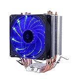upHere Dissipatore di processore con Ventola da 92mm PWM -CPU Cooler.Blu,C92B