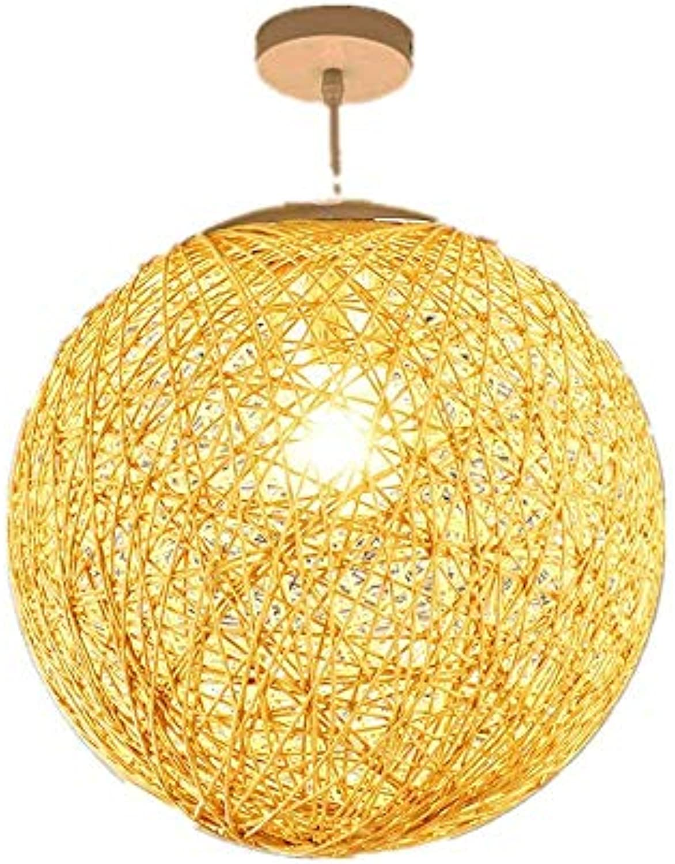 WENYAO Ausgesetzt Pendelleuchte Fitting Kit Hanf Ball Kronleuchter Rattan Ball Kreative Retro Restaurant Rattan Gewebt Lampe Persnlichkeit Bekleidungsgeschft Ins Hanfseil Rattan Ball Lampe Licht