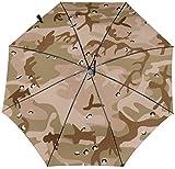 Ombrelle automatique à trois volets, motif camouflage