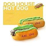 88AMZ Ensemble Lit pour Chien Sofa Panier Lit Coussin Forme de Hot Dog Mignon Pet Cat Bed pour Les Petits Chiens Chat Animal de Compagnie Lits Lits décoration (Grande Taille)