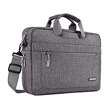 MOSISO Laptop Shoulder Bag Compatible with MacBook Pro/Air 13 inch 13-13.3 inch Notebook Computer Polyester Messenger Carrying Briefcase Sleeve with Adjustable Depth at Bottom Gray