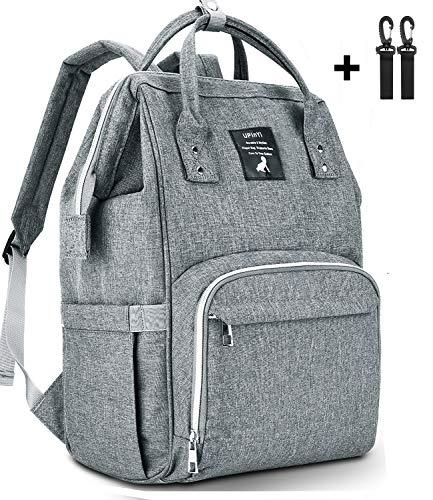 UPinYi Diaper Bag Backpack - Large Capacity Multifunction Waterproof Travel Backpack Nappy Bag for Baby Care(Dark Grey)