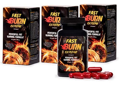 Fast Burn Extreme (3x) Krachtige vetverbrandende formule, effectieve verbranding van vetreserves, vetophopingen, voorkomt nieuwe vetafzettingen op de buik Voedingssupplement (180 capsules)