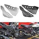 Accesorios de la motocicleta Lateral de aluminio Panel del medio Cubierta del panel Protector Protector Carenado for Ducati Scrambler Sixty/Desert Sled/Full Throttle/Urban Enduro (Negro)