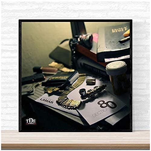 XIANGLL Kendrick Lamar Section 80 Music Album Cover Poster Print On Canvas Wall Art Home Decor Poster and Prints Print On Canvas-60X60Cm No Frame