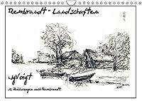 """Rembrandt Landschaften wgVoigt (Wandkalender 2022 DIN A4 quer): Meine Landschaftszeichnungen nach Rembrandt lenken den Blick auf den """"Alten Meister"""", den ich liebe. (Monatskalender, 14 Seiten )"""