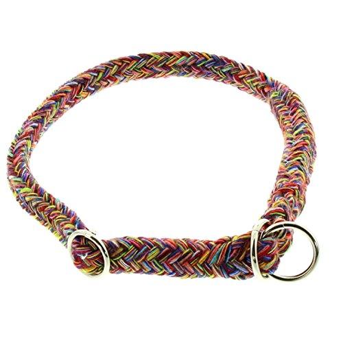 Dinoleine Hunde-Halsband/Stoppwürger, Größenverstellbar, Natürliche Baumwolle, Größe: XS/ 35 cm, Schwarz/Weiß, 141014