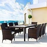 Deuba Poly Rattan Sitzgruppe 8 Stühle Stapelbar mit Tisch - 4