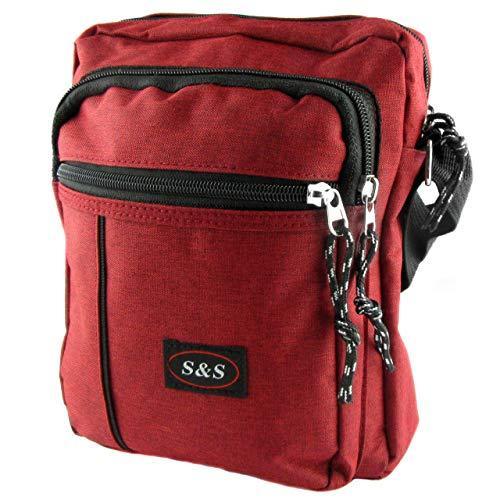 Borsa a tracolla da uomo, Borse organizer portatutto piccolo casual per uso quotidiano grande capacità alla moda. (Rosso)