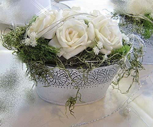 Tischgesteck Marina Tischdeko Hochzeit Kommunion Taufe Geburtstag Dekoration