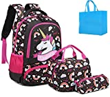 Girls Backpacks Unicorn Teens Backpack Sets for School with Lunch Box Kids School Bags Set 3 in 1...