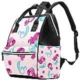 Lindo panda bolsa de pañales multifuncional portátil para el cuidado del bebé, resistente al agua, gran capacidad, elegante y duradero Bonita sirena. Talla:27x19.8x36.5cm/10.6x7.8x14in