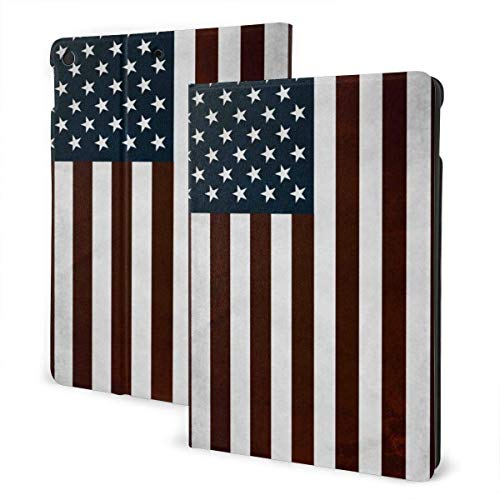 GOSMAO iPad Case Fit iPad 7th Generation 2019, iPad 10.2 Case Patriot Cheers USA Flag PU Leather Business Cover with Stand Pocket and Auto Wake/Sleep for iPad 10.2'