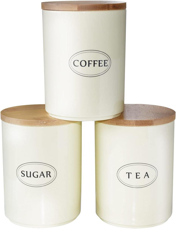 SANHECUN Kitchen Canister Set Tea Sugar Jars Coffee Max 51% OFF Quality inspection Pots Storage